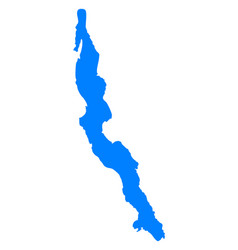 Map of lake tanganyika vector