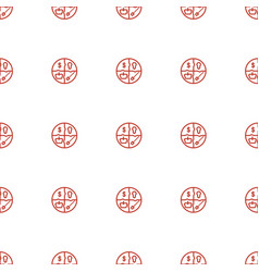marketing icon pattern seamless white background vector image