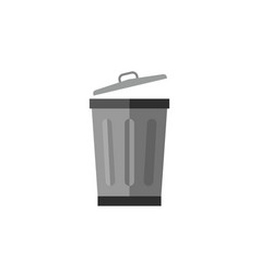 metalic trash can vector image