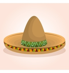Mexican classic sombrero icon vector