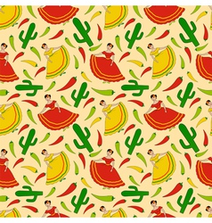 Mexican women pattern vector