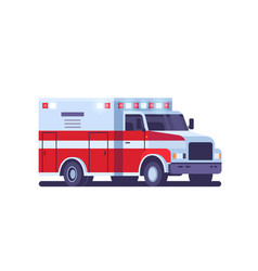 modern ambulance car with emergency sign medical vector image