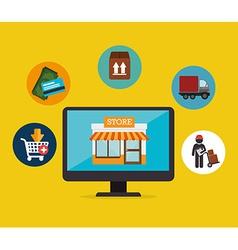 Online payments design vector image