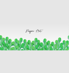 paper origami fresh grass banner vector image