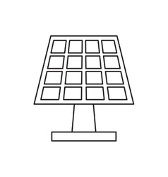 Pictograh solar panel energy ecological clean vector