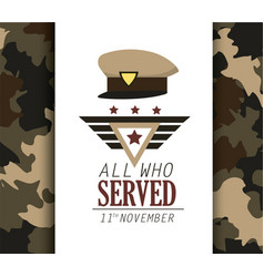 policeman cap symbol to veterans day vector image