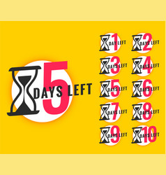 Promotional banner with number days left vector