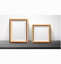 Realistic black frame set good for posters vector
