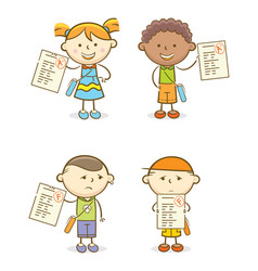 Set kids with score test vector