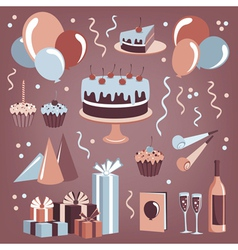 Set of celebration design elements vector image
