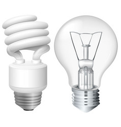 Set of light bulbs vector