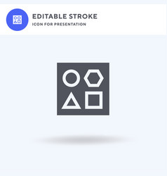 shapes icon filled flat sign solid vector image