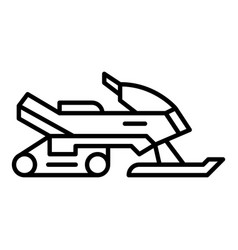 snowmobile icon outline style vector image