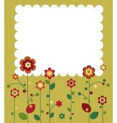 Springtime flowers vector