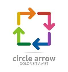 square arrow colorful design symbol icon vector image