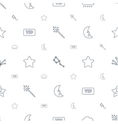 star icons pattern seamless white background vector image