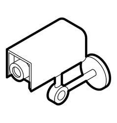 Surveillance camera icon outline style vector