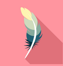 Tattoo feather icon flat style vector