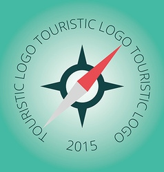 Tourism logotype stamp compass vector image