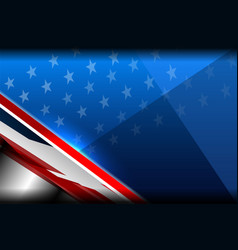 usa color background vector image