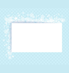 winter snowflakes blue background for greeting vector image