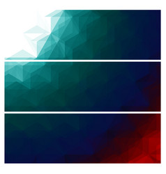 abstract triangles banners set vector image