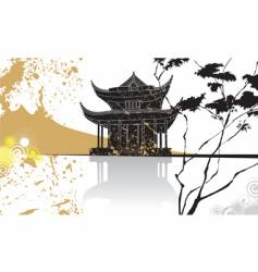 chinese pagoda abstract background vector image