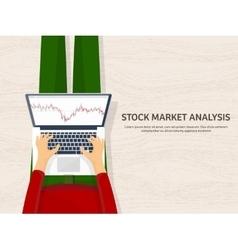 Flat background market trade vector