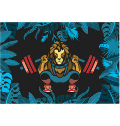 powerlifting barbell squat vector image