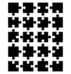 black puzzle 20 vector image vector image