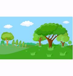 fabulous spring landscape vector image