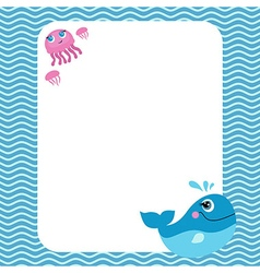 Funny card with empty space for text vector image