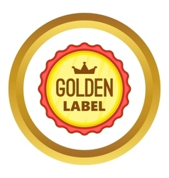 Golden label icon vector image vector image