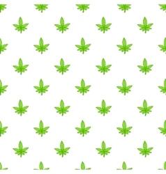 Marijuana leaf pattern cartoon style vector image