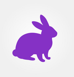 silhouette of hare vector image