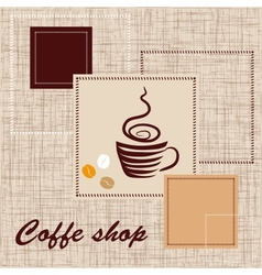 Template of coffee shop vector image vector image