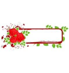 banner roses vector image