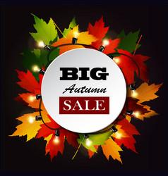 Maple leaf frame for seasonal sales vector