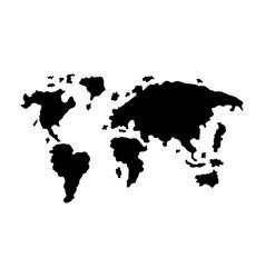 abstract black world map vector image