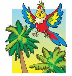 Cartoon parrot vector
