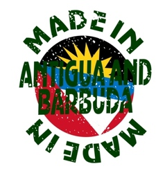 label Made in Antigua and Barbuda vector image vector image