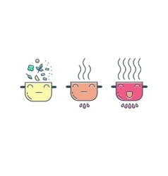 Modern cooking line icons set vector image vector image