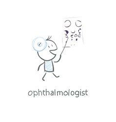 ophthalmologist vector image