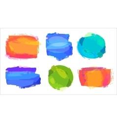Retro colored vintage labels vector image vector image