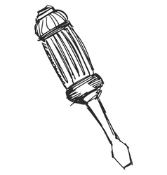 screwdriver vector image vector image