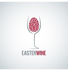 wine easter egg design background vector image vector image