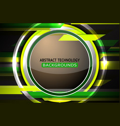 Abstract circle green background vector