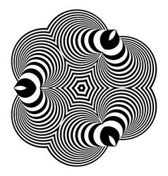 Abstract Design Element Optical Art vector image