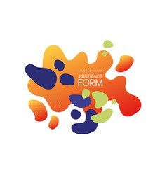 abstract form logo design with different colors vector image
