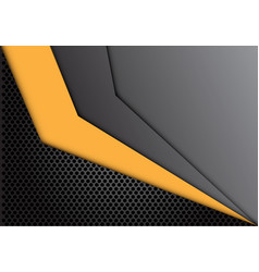 abstract yellow arrow dark gray circle mesh vector image